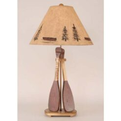 2 Wooden Paddle Table Lamp
