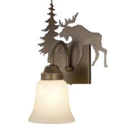 Vanity Burnished Bronze - One Light / Moose Accent