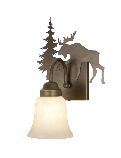 Vanity Burnished Bronze - One Light / Moose Accent