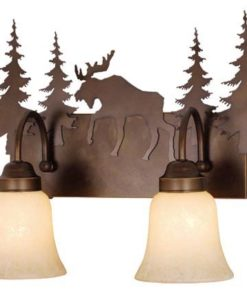Vanity Burnished Bronze - Three Light / Moose Accent