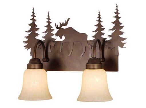 Vanity Burnished Bronze - Three Light / Moose Accent