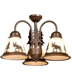 Yellowstone 3L Light Kit Burnished Bronze - Moose
