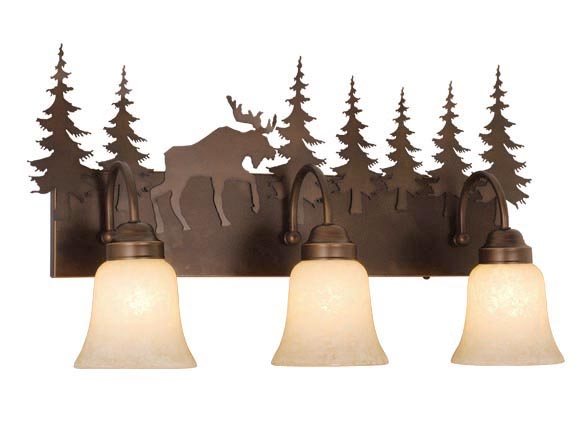 Vanity Burnished Bronze - Two Light / Moose Accent