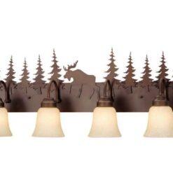 Vanity Burnished Bronze - Four Light / Moose Accent