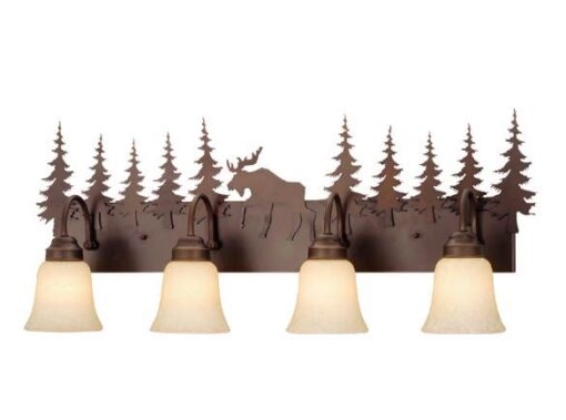 Vanity Burnished Bronze - Four Light / Moose Accent