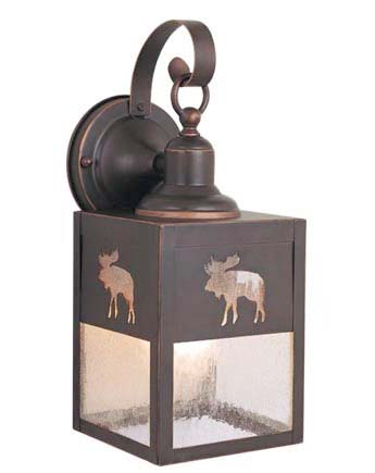 Yellowstone 5 Outdoor Wall Light Burnished Bronze Moose