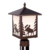 Yellowstone 8 Outdoor Post Light Burnished Bronze Moose