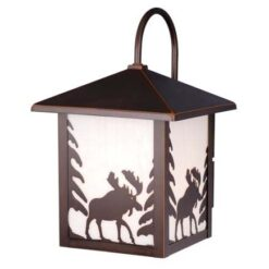 Yellowstone 8 Outdoor Wall Light Burnished Bronze Moose