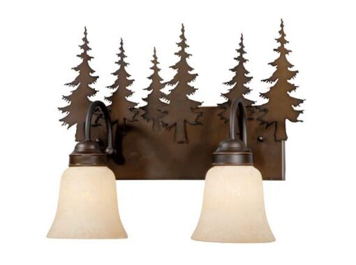 Vanity Burnished Bronze - Two Light / Tree Accent