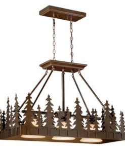 Yosemite 36 Kitchen Island Pendant Burnished Bronze - Trees