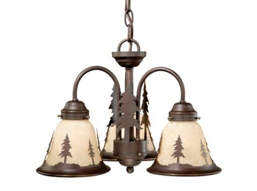 Yosemite 3L Light Kit Burnished Bronze - Pine Trees