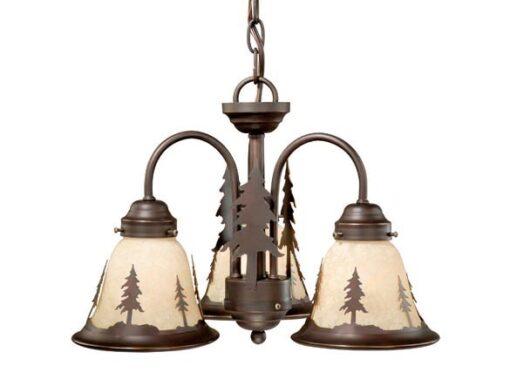 Yosemite 3L Light Kit Burnished Bronze - Pine Trees