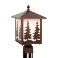 Yosemite 8 Outdoor Post Light Burnished Bronze Trees