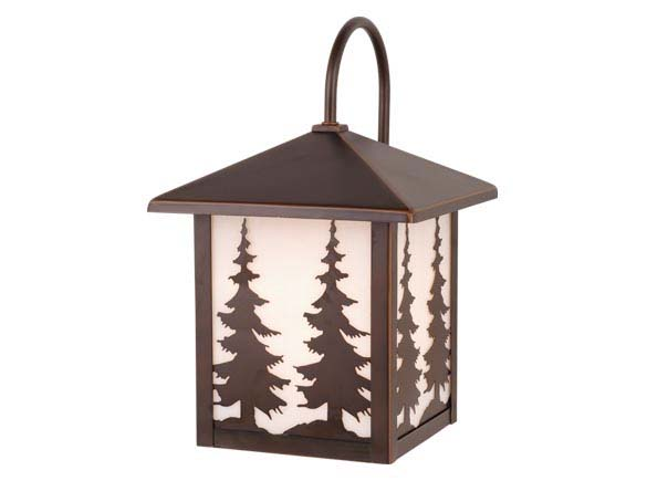 Yosemite 8 Outdoor Wall Light Burnished Bronze Trees
