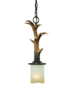 Yoho 1L Mini Pendant black walnut faux antler