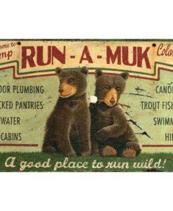 Camp Run a muk vintage sign