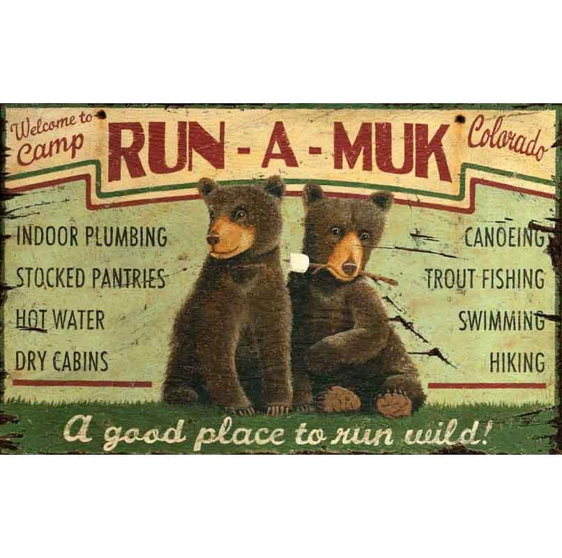 Camp Run A Muk Custom Cabin Signs