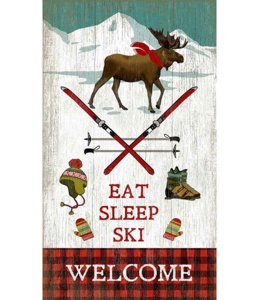 Eat Sleep Ski Custom Sign