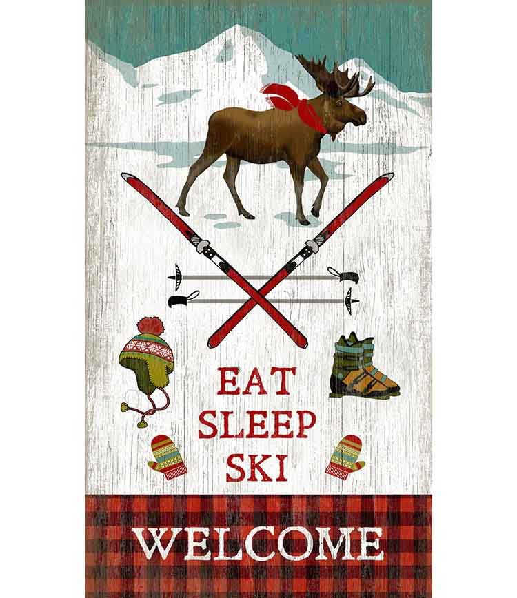 Eat Sleep Ski Custom Sign