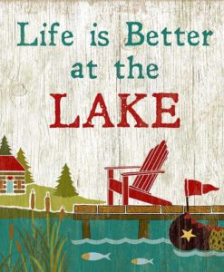 Life is Better at the Lake Vintage Sign
