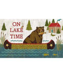 On Lake Time vintage Sign