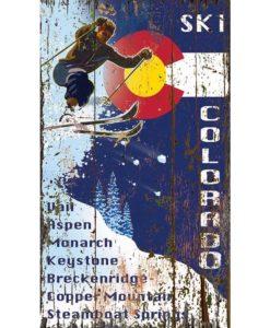 Ski Flag Colorado Custom Sign