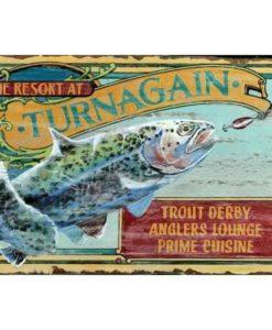 Trout Resort Custom Vintage Sign