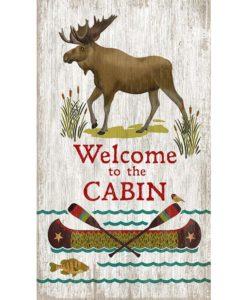 Welcome Cabin Vintage custom Sign