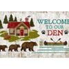 Welcome Den Custom Vintage Sign