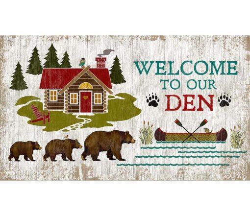 Welcome Den Custom Vintage Sign