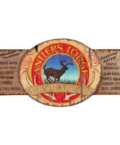 antlers lodge custom vintage sign